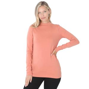 Wholesale  Ash Rose SIX PACK Mock Turtleneck - Cotton Long Sleeve 1059 1S/2M/2L/1XL) - 1 Small, 2 Medium, 2 Large, 1 Extra Large