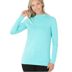 Wholesale  ASH MINT SIX PACK Mock Turtleneck - Cotton Long Sleeve 1059 1S/2M/2L/1XL) - 1 Small, 2 Medium, 2 Large, 1 Extra Large