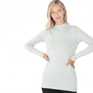Wholesale  GREY MIST SIX PACK Mock Turtleneck - Cotton Long Sleeve 1059 1S/2M/2L/1XL) - 1 Small, 2 Medium, 2 Large, 1 Extra Large