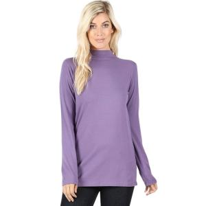 Wholesale  LILAC GREY SIX PACK Mock Turtleneck - Cotton Long Sleeve 1059  1S/2M/2L/1XL) - 1 Small, 2 Medium, 2 Large, 1 Extra Large