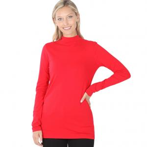Wholesale  RUBY SIX PACK Mock Turtleneck - Cotton Long Sleeve 1059  1S/2M/2L/1XL) - 1 Small, 2 Medium, 2 Large, 1 Extra Large