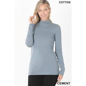 Wholesale  CEMENT SIX PACK Mock Turtleneck - Cotton Long Sleeve 1059  1S/2M/2L/1XL) - 1 Small, 2 Medium, 2 Large, 1 Extra Large