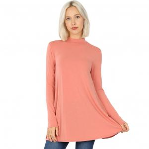 Wholesale  ASH ROSE SIX PACK Mock Turtleneck - Long Sleeve with Pockets 1641 (1S/1M/2L/2XL)/ - 1 Small 1 Medium 2 Large 2 Extra Large