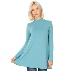 Wholesale  DUSTY TEAL SIX PACK Mock Turtleneck - Long Sleeve with Pockets 1641 (1S/1M/2L/2XL)/ - 1 Small 1 Medium 2 Large 2 Extra Large