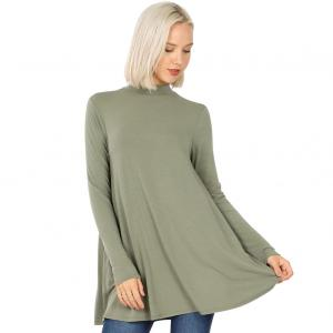 Wholesale  LIGHT OLIVE SIX PACK Mock Turtleneck - Long Sleeve with Pockets 1641 SIX PACK (1S/1M/2L/2XL)/ - 1 Small 1 Medium 2 Large 2 Extra Large