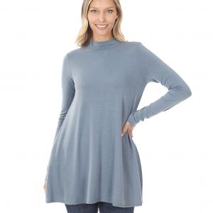 Wholesale  CEMENT SIX PACK Mock Turtleneck - Long Sleeve with Pockets 1641 (1S/1M/2L/2XL)/ - 1 Small 1 Medium 2 Large 2 Extra Large