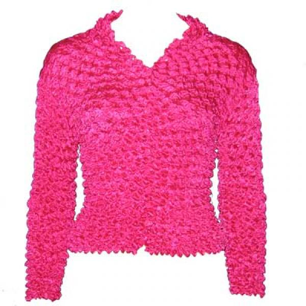 Wholesale Gourmet Popcorn - Cardigans with Collar Magenta - One Size (S-XL)
