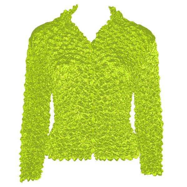 Wholesale Gourmet Popcorn - Cardigans with Collar Vivid Green - One Size (S-XL)