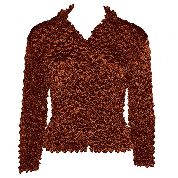 Wholesale Gourmet Popcorn - Cardigans with Collar Chestnut - One Size (S-XL)