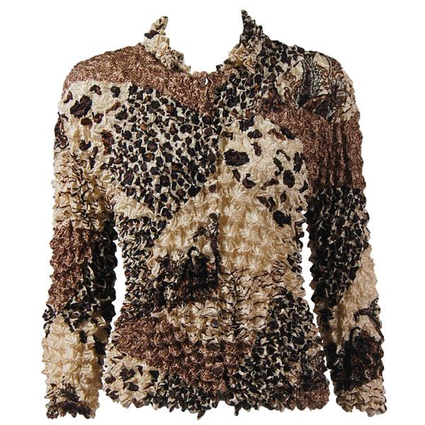 Wholesale Gourmet Popcorn - Cardigans with Collar Patchwork Paisley Jungle - One Size (S-XL)