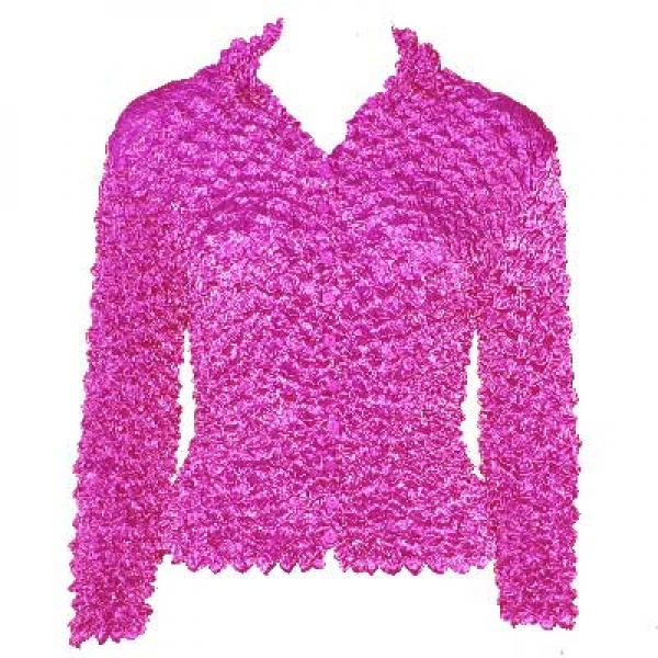 Wholesale Gourmet Popcorn - Cardigans with Collar Raspberry - One Size (XS-L)