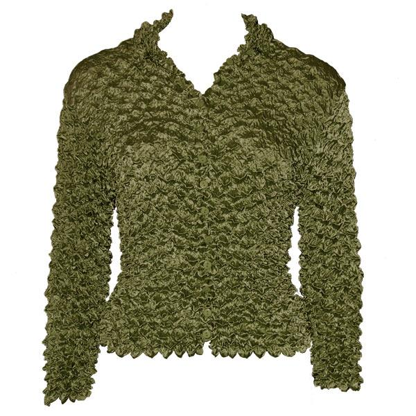 Wholesale Gourmet Popcorn - Cardigans with Collar Sage - One Size (S-XL)