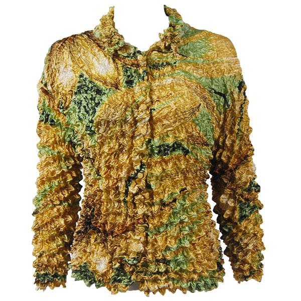 Wholesale Gourmet Popcorn - Cardigans with Collar Hurricane - Gold - One Size (S-XL)