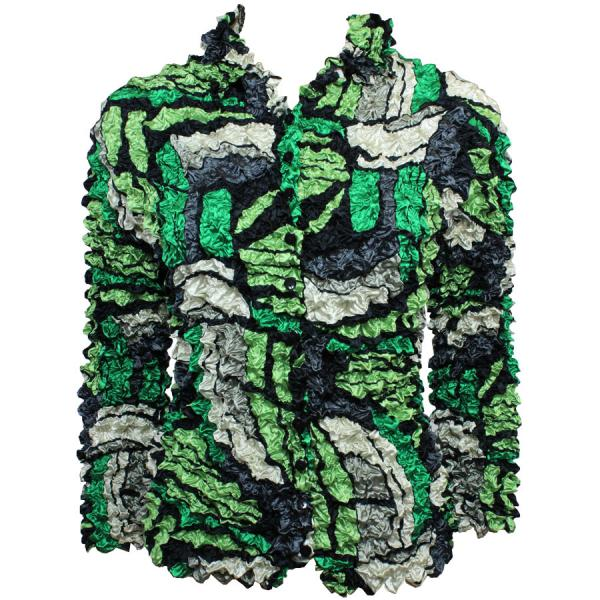 Wholesale Gourmet Popcorn - Cardigans with Collar Pop Art - Green - One Size (S-XL)