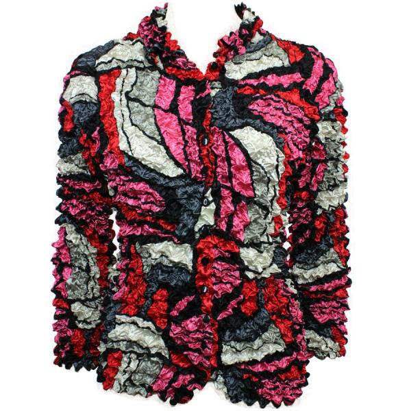 Wholesale Gourmet Popcorn - Cardigans with Collar Pop Art - Red - One Size (S-XL)
