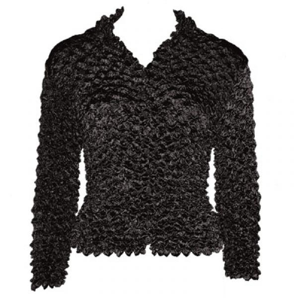 Wholesale Gourmet Popcorn - Cardigans with Collar Black - One Size (S-XL)