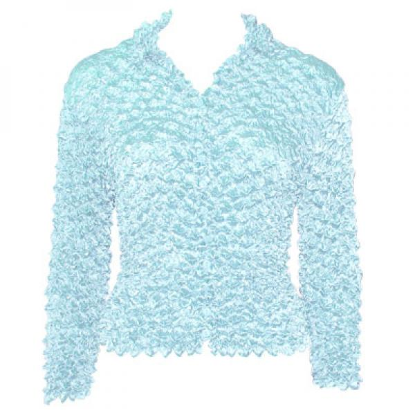 Wholesale Gourmet Popcorn - Cardigans with Collar Sky Blue - One Size (S-XL)