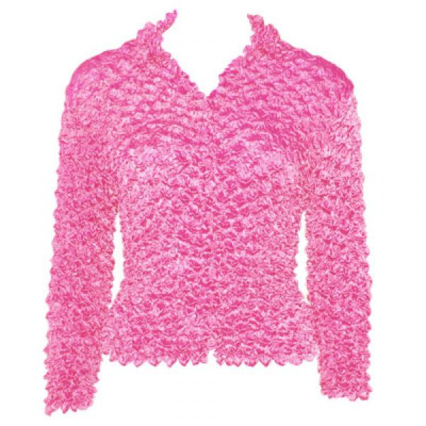 Wholesale Gourmet Popcorn - Cardigans with Collar Bubblegum - One Size (S-XL)