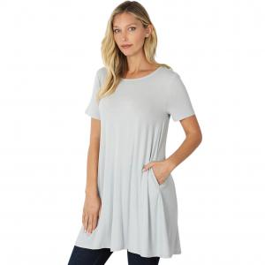 Wholesale  GREY MIST SIX PACK Longline Flared Top with Side Pockets 9927 (1S/2M/2L/1XL) - 1 Small, 2 Medium, 2 Large, 1 Extra Large