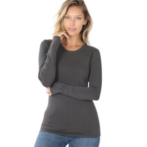 Wholesale  Ash Grey (SIX PACK) Cotton Long Sleeve Round Neck 3320 (1S/ 1M/ 2L/ 2XL) - 1 Small 1 Medium 2 Large 2 Extra Large