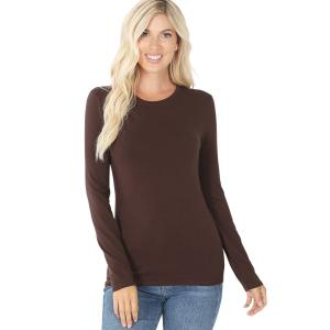Wholesale  Brown (SIX PACK) Cotton Long Sleeve Round Neck 3320 (1S/ 1M/ 2L/ 2XL) - 1 Small 1 Medium 2 Large 2 Extra Large