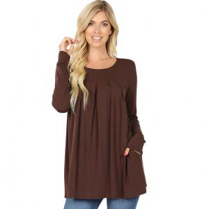 Wholesale  AMERICANO Long Sleeve Round Neck Pleated 1658 - Large