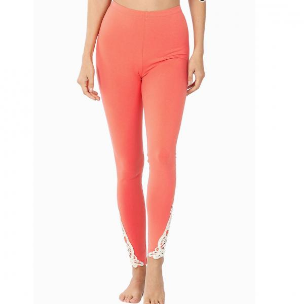 wholesale Leggings Ankle Patch Full Length Leggings 1833 SIX PACK DEEP CORAL Ankle Patch Full Length Leggings 1833 1S/1M/2L/2XL - 1 Small 1 Medium 2 Large 2 Extra Large