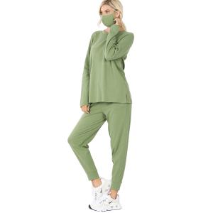 Wholesale  ASH KIWI 3 PC SET Pants/Top/Mask 32015 - Medium