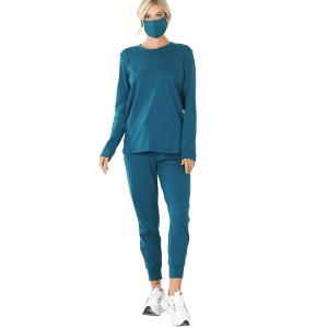 Wholesale  TEAL 3 PC SET Pants/Top/Mask 32015 - Small
