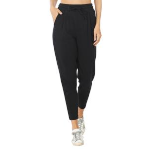 Wholesale  BLACK 32061 (SIX PACK) Cotton Drawstring Pants (1S/1M/2L/2XL) - 1 Small 1 Medium 2 Large 2 Extra Large