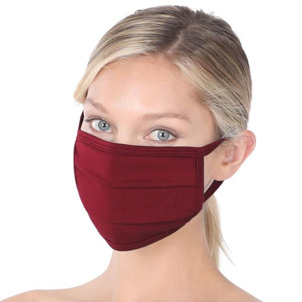 wholesale Protective Masks - Cotton Blend Two Ply CMK/CPMK DARK BURGUNDY Protective Masks- Cotton Blend Two Ply CMK:500 -