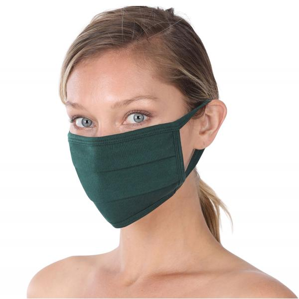 wholesale Protective Masks - Cotton Blend Two Ply CMK/CPMK HUNTER GREEN Protective Masks- Cotton Blend Two Ply CMK:500 -
