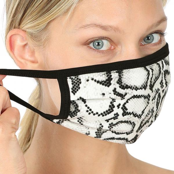 wholesale Protective Masks - Cotton Blend Two Ply CMK/CPMK IVORY BLACK REPTILE Protective Masks- Two Ply CPMK 503 -