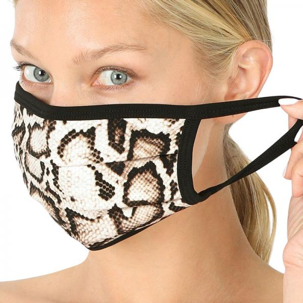 wholesale Protective Masks - Cotton Blend Two Ply CMK/CPMK TAN BROWN REPTILE Protective Masks- Two Ply CPMK 503 -