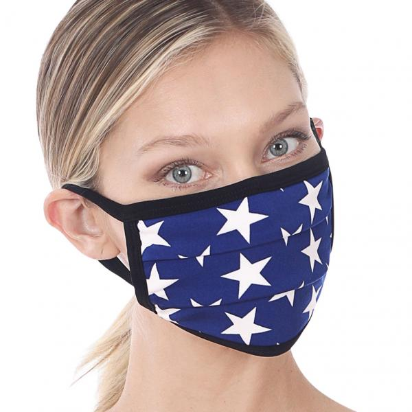 wholesale Protective Masks - Cotton Blend Two Ply CMK/CPMK MID NAVY STARS Protective Mask - Two Ply CPMK 506 -
