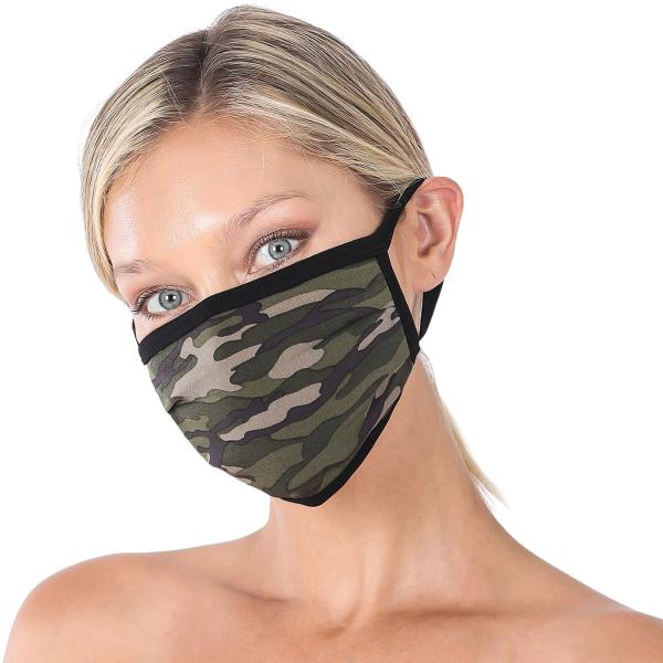 wholesale Protective Masks - Cotton Blend Two Ply CMK/CPMK FOREST CAMOFLAGE Protective Mask - Two Ply CPMK 501 -