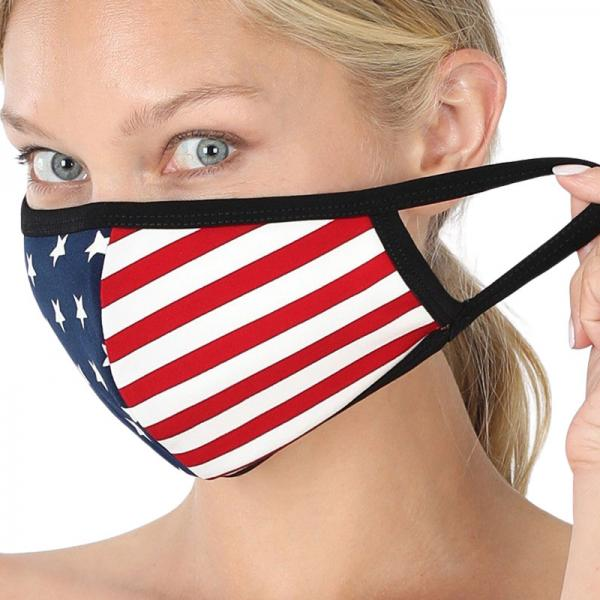 wholesale Protective Masks - Cotton Blend Two Ply CMK/CPMK AMERICAN FLAG Protective Mask- Two Ply CPMK 105 -