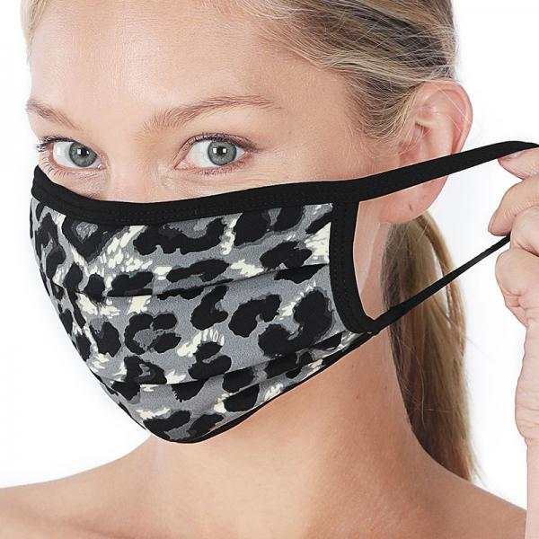 wholesale Protective Masks - Cotton Blend Two Ply CMK/CPMK GREY LEOPARD Protective Mask - Two Ply CPMK 502 -