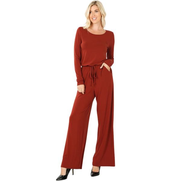 Wholesale Jumpsuit - Back Keyhole Opening 3116 FIRED BRICK Jumpsuit - Back Keyhole Opening 3116 - Small