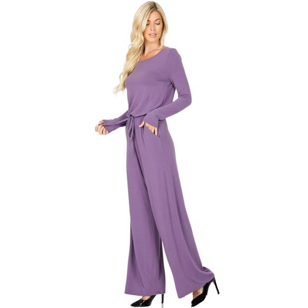 Wholesale Jumpsuit - Back Keyhole Opening 3116 LILAC GREY Jumpsuit - Back Keyhole Opening 3116 - Small
