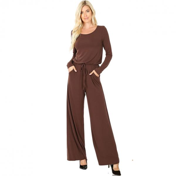 Wholesale Jumpsuit - Back Keyhole Opening 3116 AMERICANO Jumpsuit - Back Keyhole Opening 3116 - Large