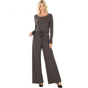 Wholesale  ASH GREY Jumpsuit - Back Keyhole Opening 3116 - Large