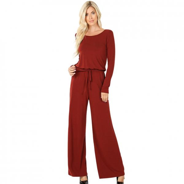 Wholesale Jumpsuit - Back Keyhole Opening 3116 DARK RUST Jumpsuit - Back Keyhole Opening 3116 - Medium