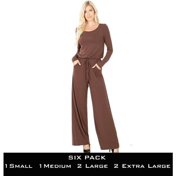 Wholesale Jumpsuit - Back Keyhole Opening 3116  AMERICANO SIX PACK Jumpsuit - Back Keyhole Opening 3116 (1S/1M/2L/2XL) - 1 Small 1 Medium 2 Large 2 Extra Large