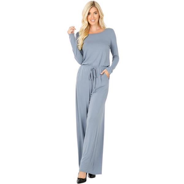 Wholesale Jumpsuit - Back Keyhole Opening 3116 CEMENT Jumpsuit - Back Keyhole Opening 3116 - Small