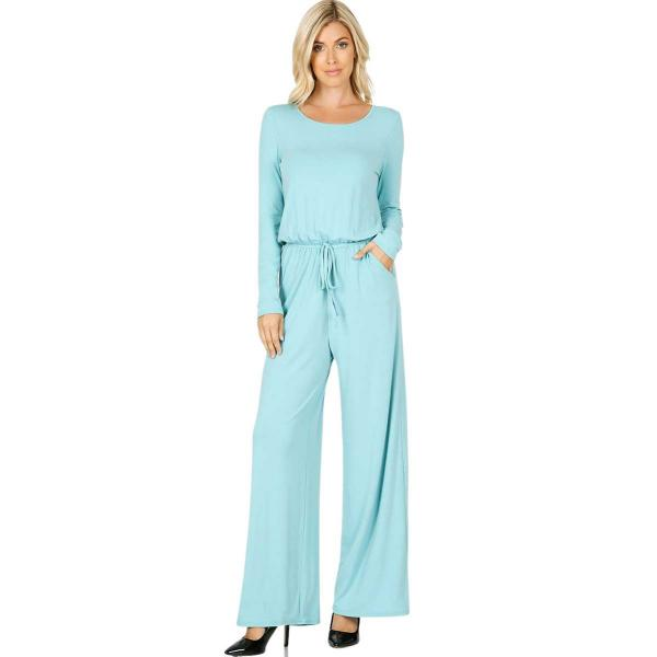 Wholesale Jumpsuit - Back Keyhole Opening 3116 ASH MINT Jumpsuit - Back Keyhole Opening 3116 - Large