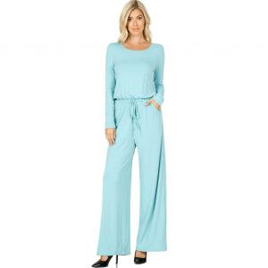 Wholesale  ASH MINT Jumpsuit - Back Keyhole Opening 3116 - Medium