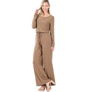 Wholesale  MOCHA Jumpsuit - Back Keyhole Opening 3116 - Small