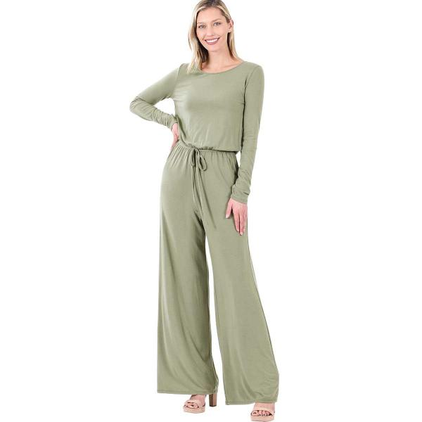 Wholesale Jumpsuit - Back Keyhole Opening 3116 LIGHT OLIVE Jumpsuit - Back Keyhole Opening 3116 - Small