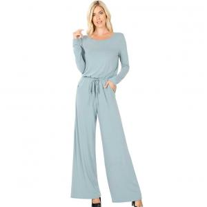 Wholesale  BLUE GREY Jumpsuit - Back Keyhole Opening 3116 - X-Large